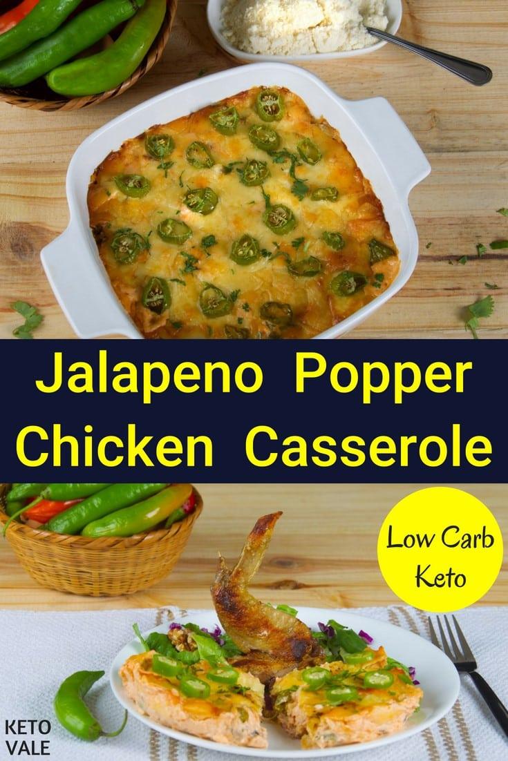 Keto Jalapeno Chicken Casserole