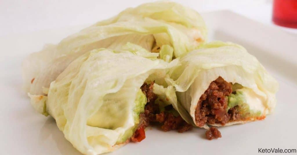 Lettuce Rolls with Ground Beef