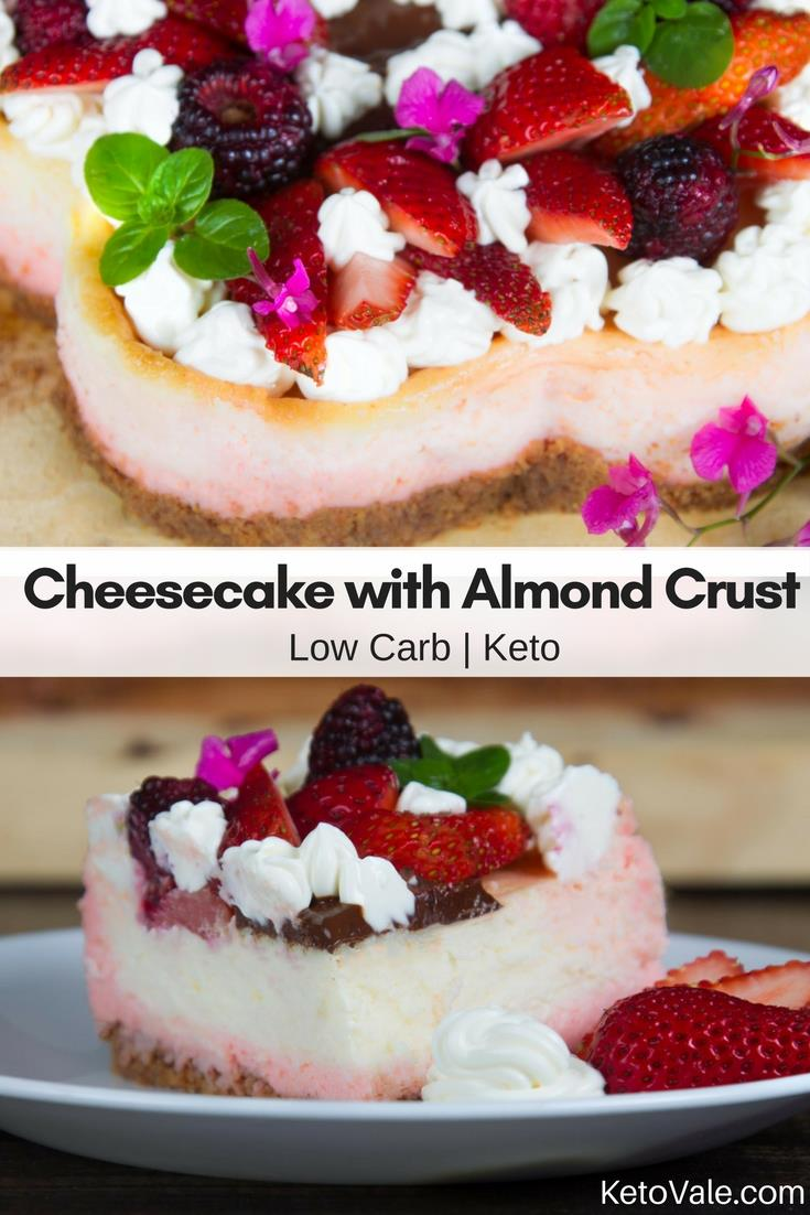 Low Carb Cheesecake with Almond Crust