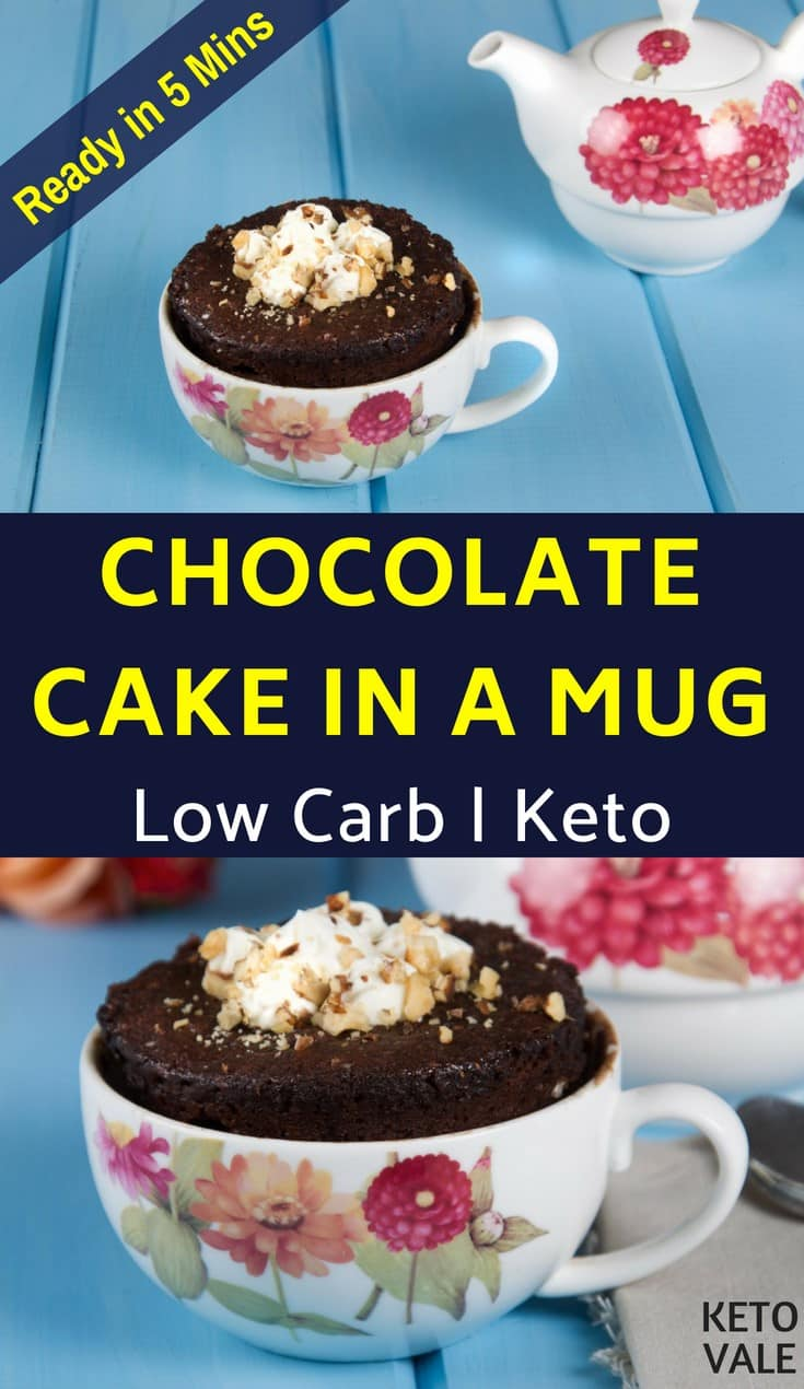 Low Carb Chocolate Cake in a Mug