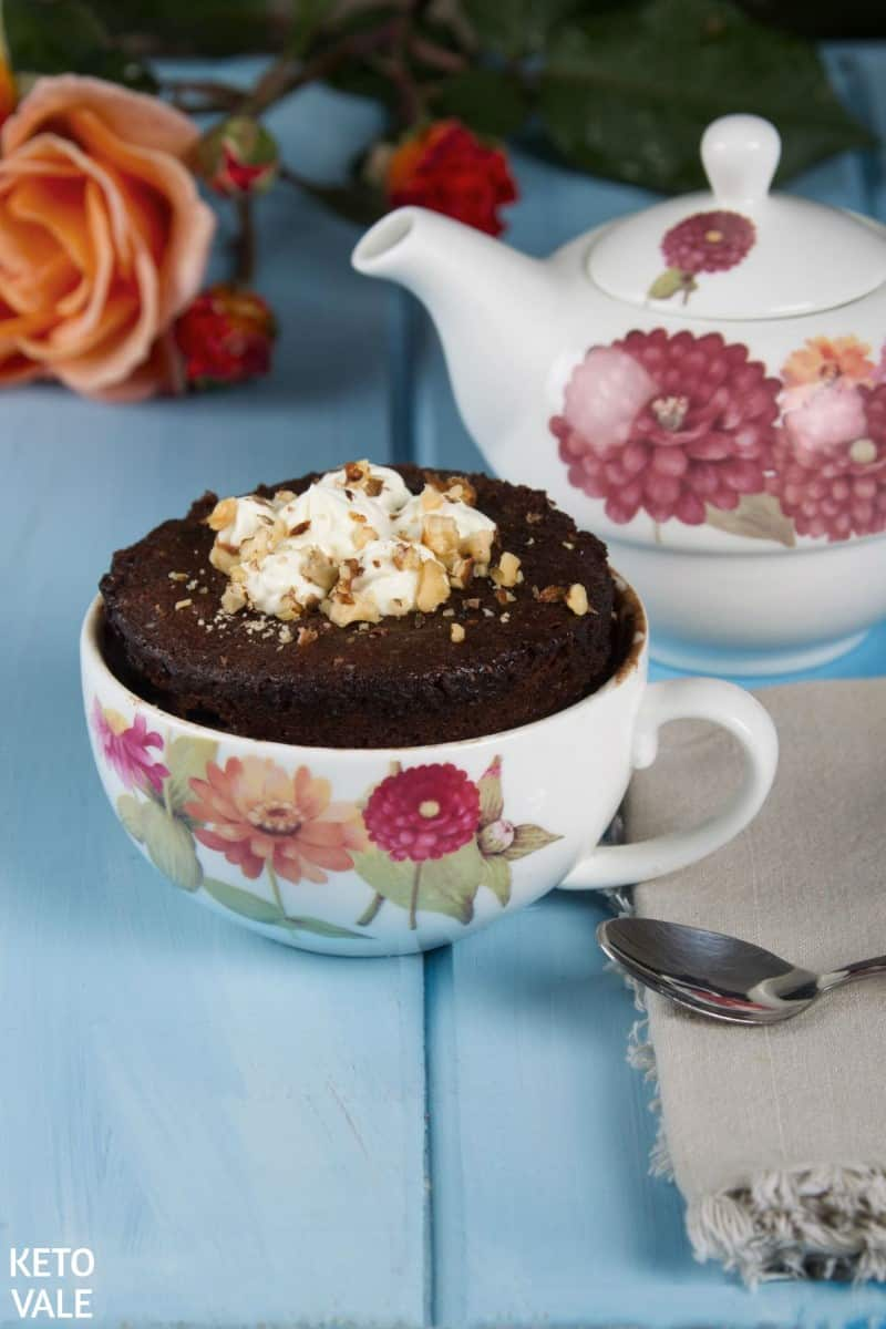 Keto Microwave Chocolate Cake in a Mug