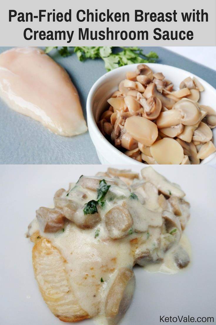 Pan-Fried Chicken with Mushroom Sauce