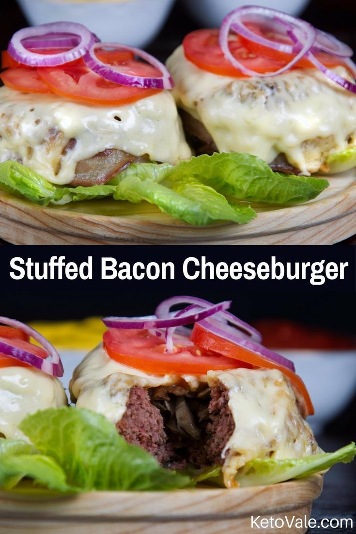 Keto Bunless Bacon Cheeseburger Low Carb Recipe Keto Vale