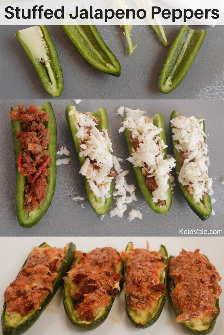 Stuffed Jalapeno Peppers with Ground Beef