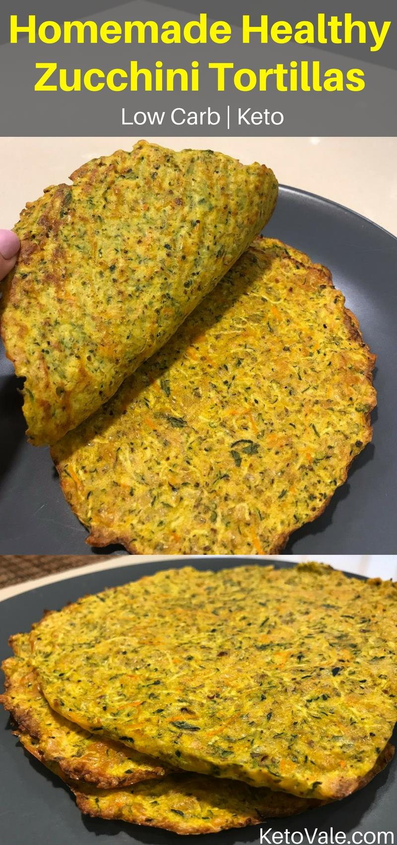 Keto Tex-Mex-Style Zucchini Tortillas Low Carb Recipe