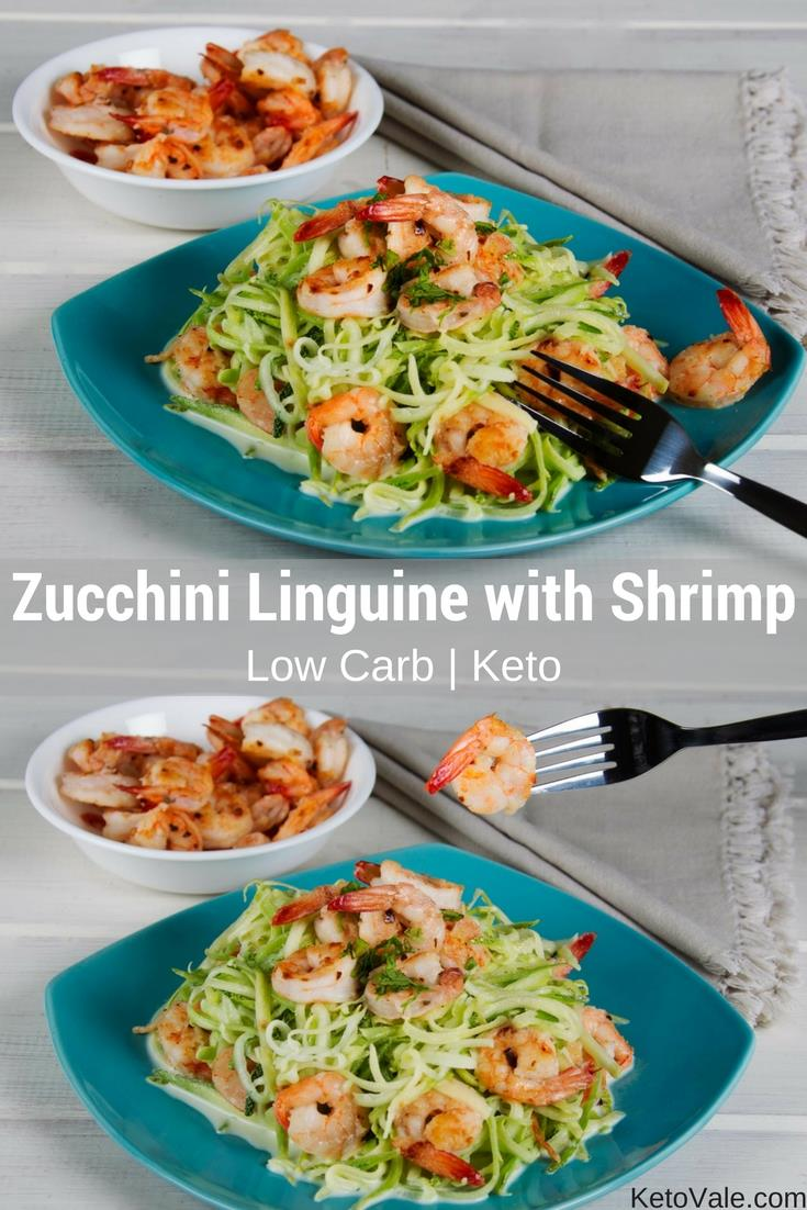 Zucchini Linguine With Shrimp