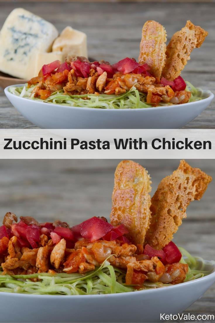 Zucchini Pasta With Chicken