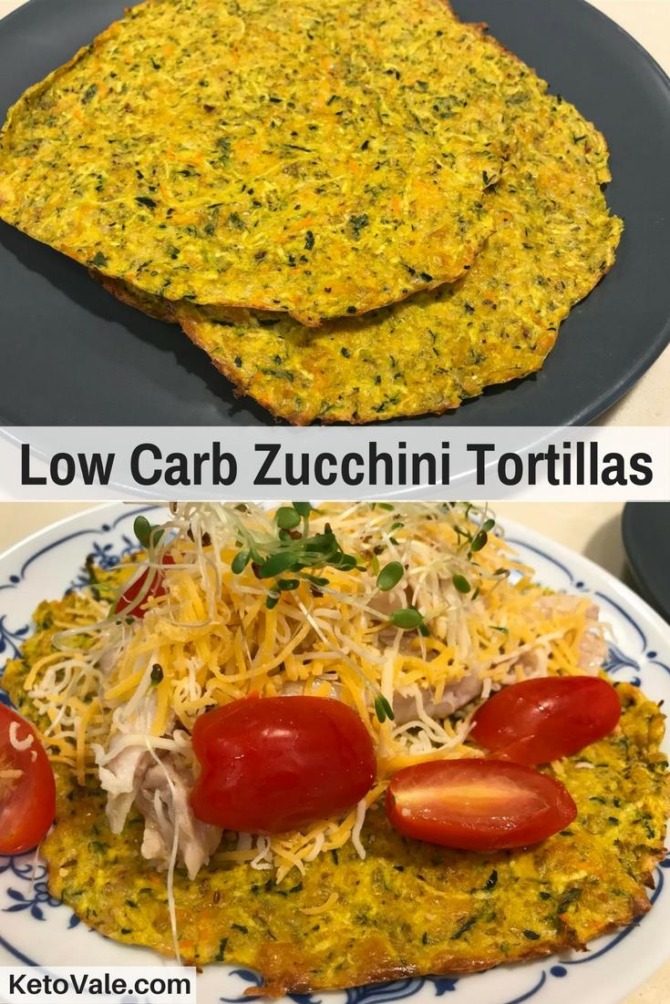 Zucchini Tortillas with Chicken Filling