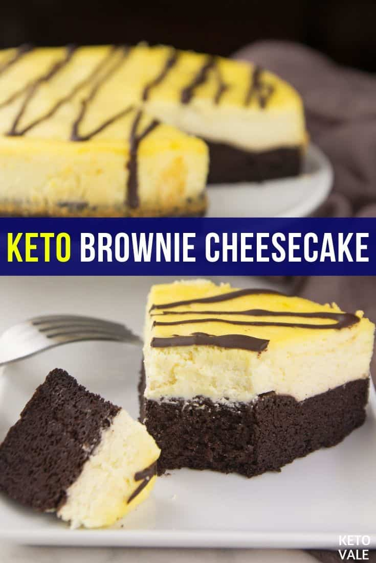 keto brownie bottom cheesecake
