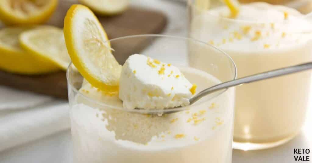 keto lemon mousse