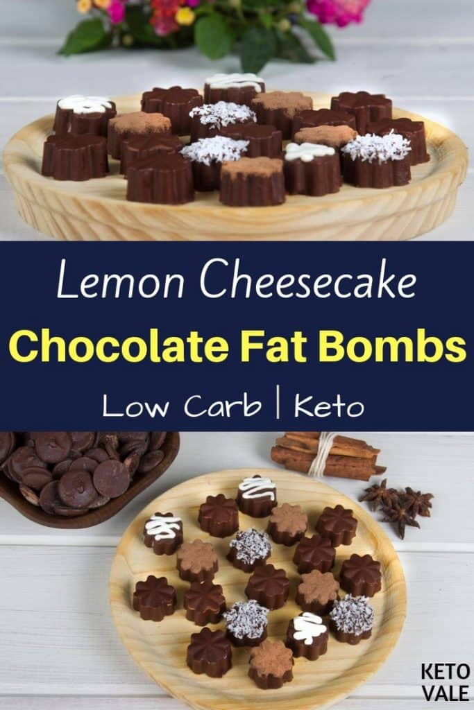 lemon cheesecake chocolate fat bombs