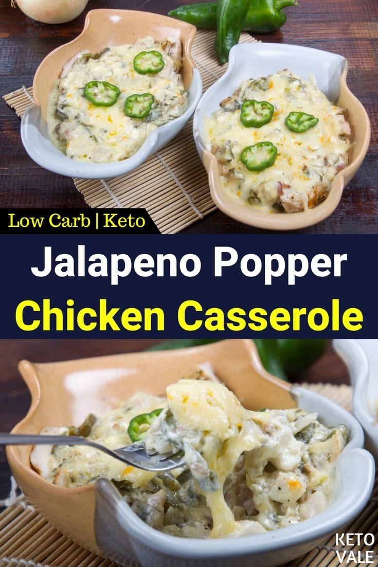 low carb jalapeno chicken casserole
