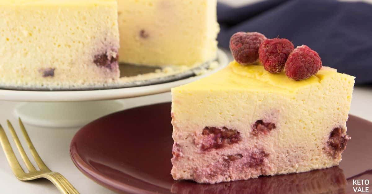 Keto Raspberry Cheesecake Sugar Free Low Carb Recipe | Keto Vale