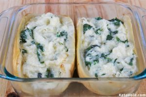 Adding spinach mix into squash