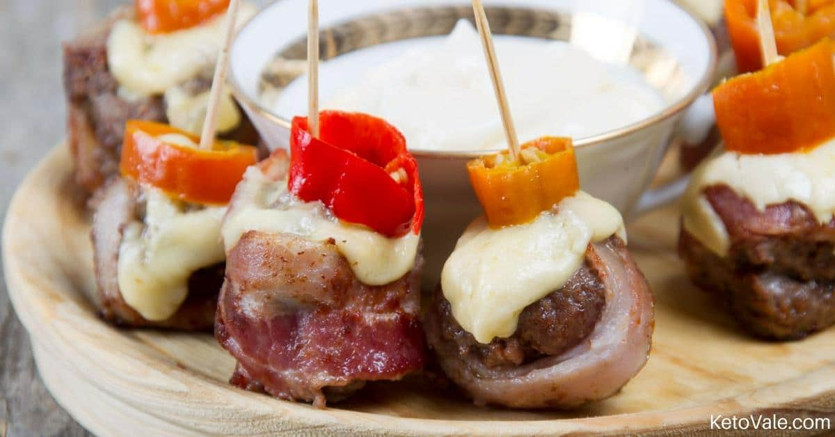 Bacon Burger Bites