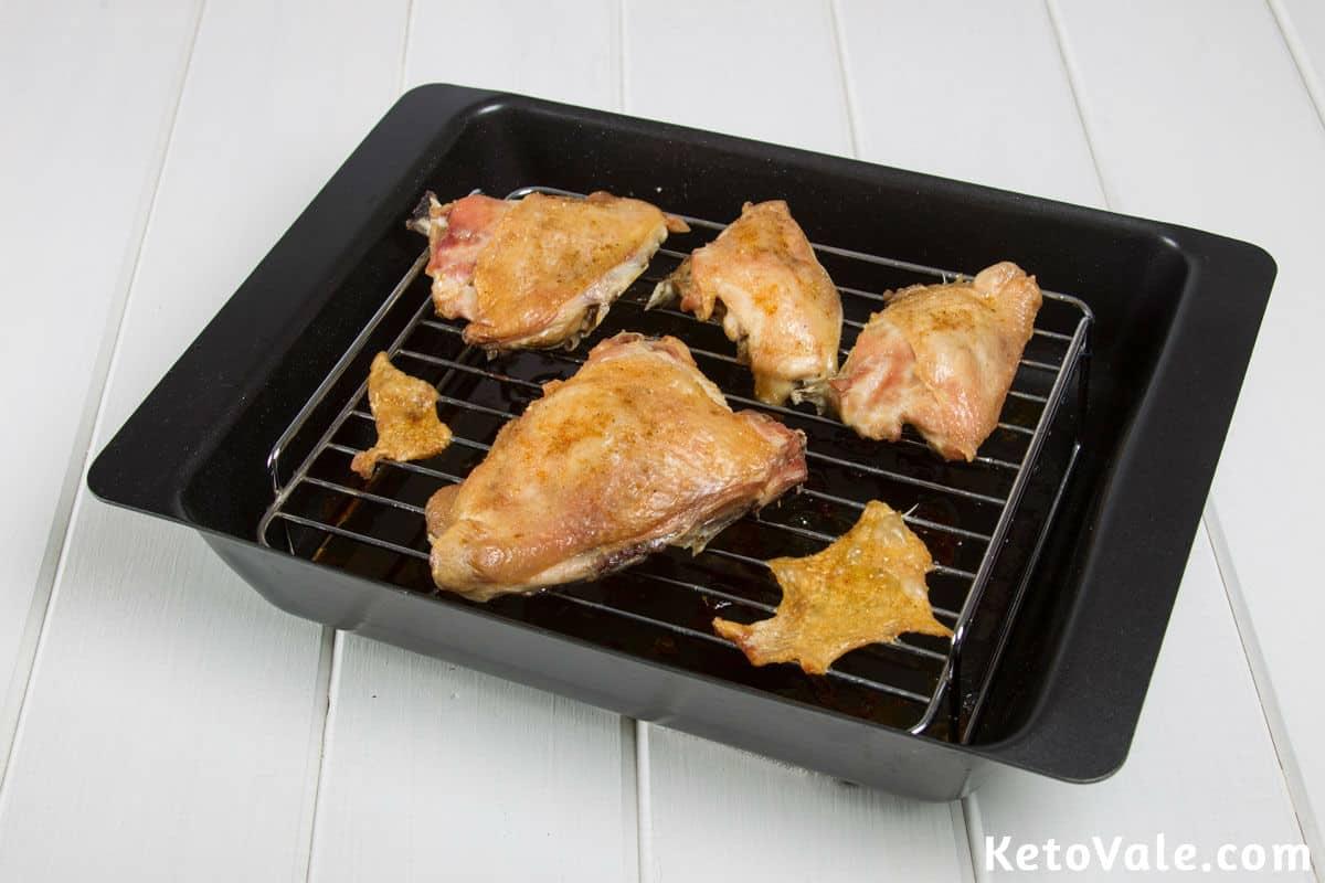 Baking chicken thighs