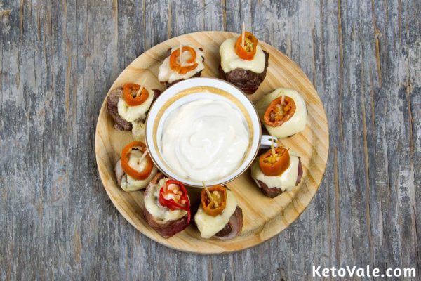 Cheese Bacon Wrapped Burger Bites