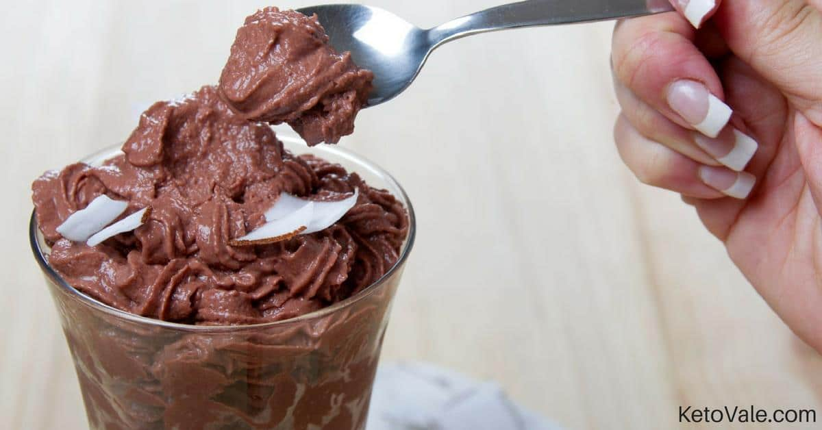 Chocolate Mousse with Coconut Flakes