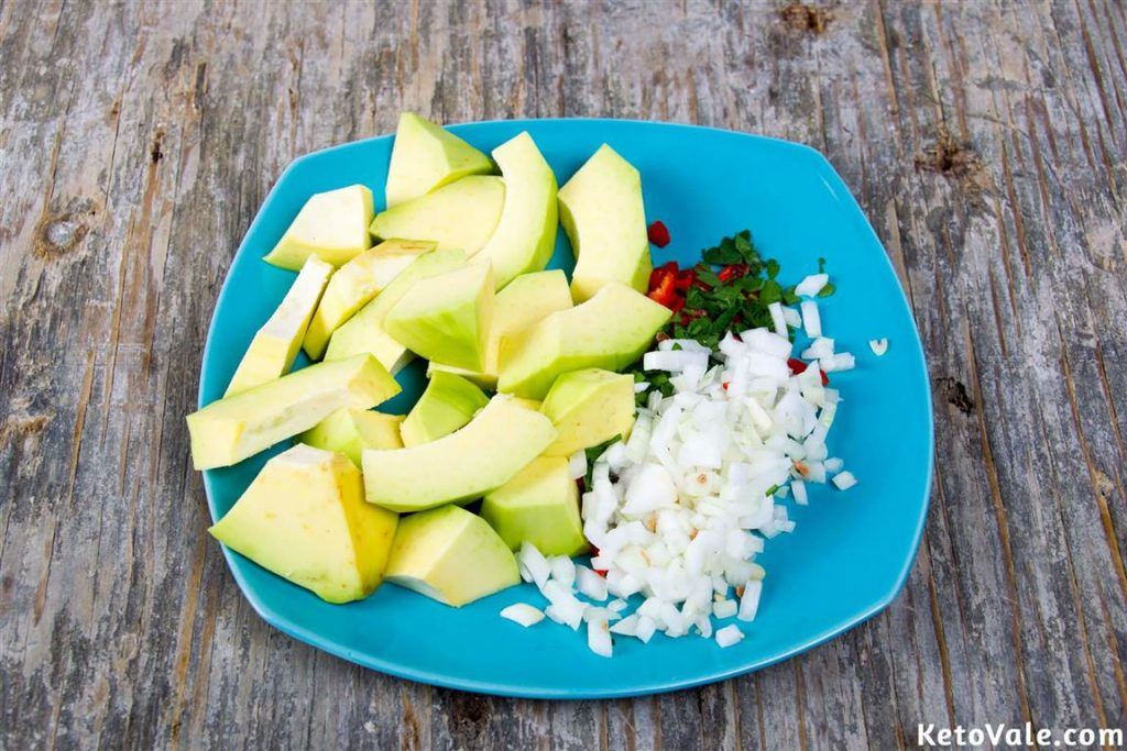 Chopping Avocado and Onion