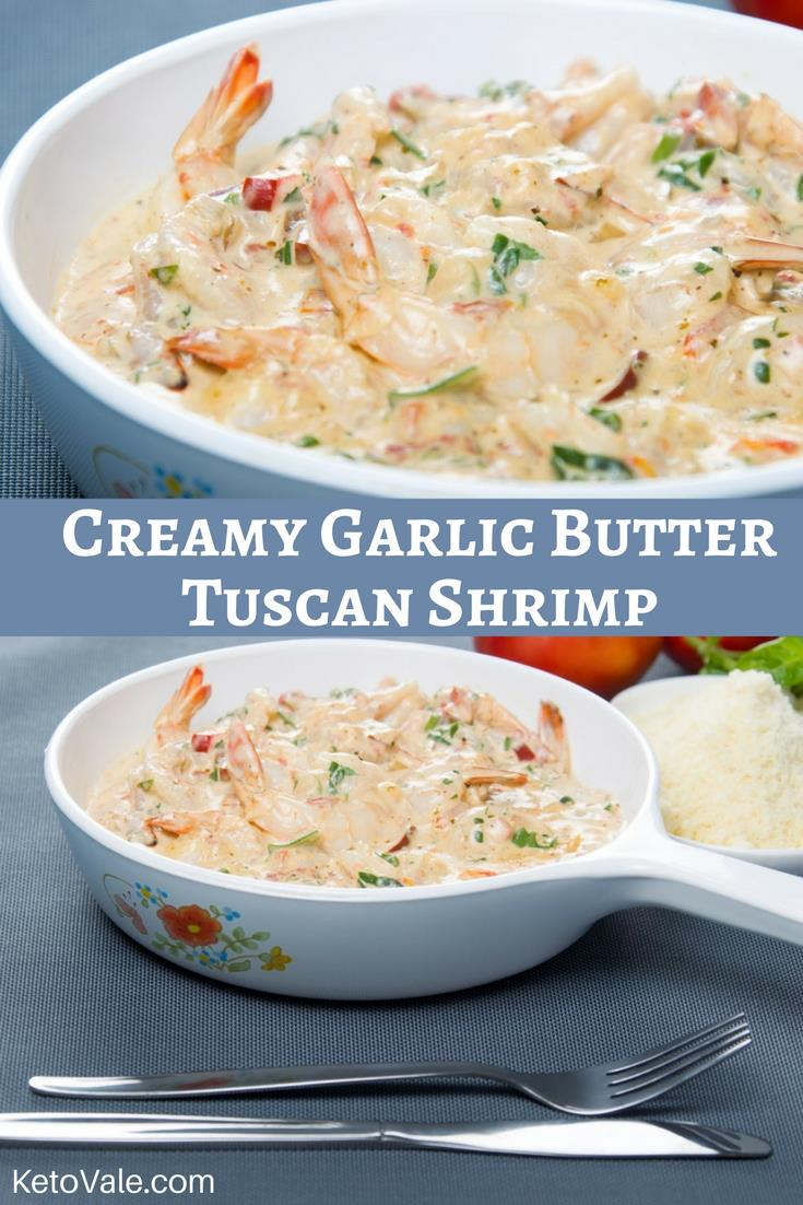 Garlic Butter Tuscan Shrimp Recipe