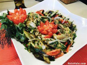 Keto Eggplant Salad