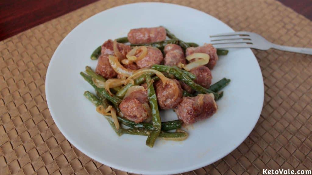 Keto Sausage Green Beans
