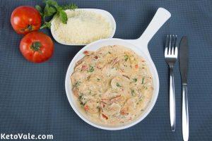 Low Carb Tuscan Shrimp