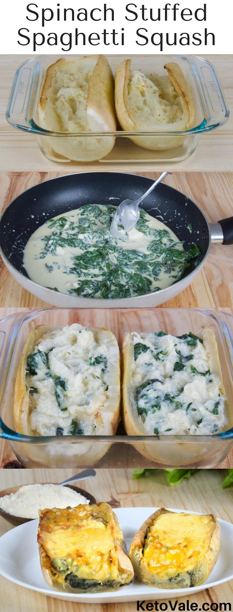 Spinach Stuffed Spaghetti Squash Recipe