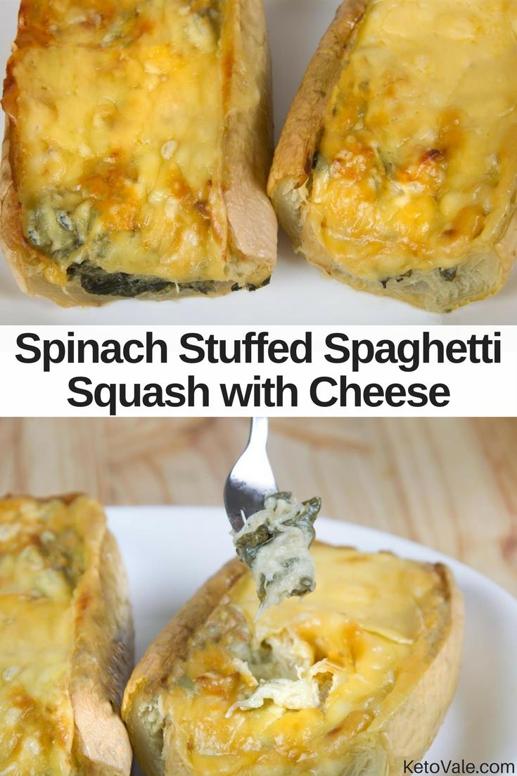 Spinach Stuffed Spaghetti Squash
