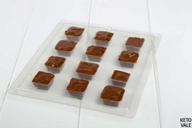 add chocolate orange mix to mold