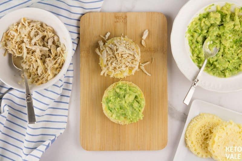 assemble avocado sandwich
