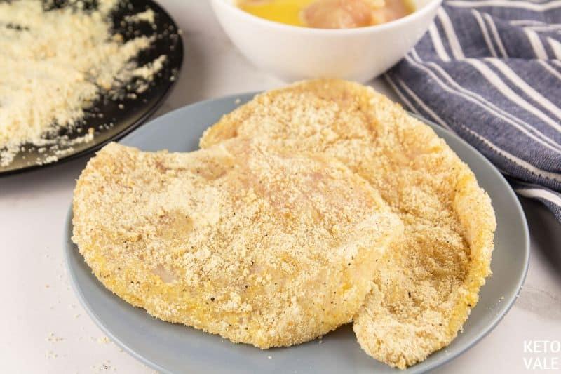 coat chicken in almond flour