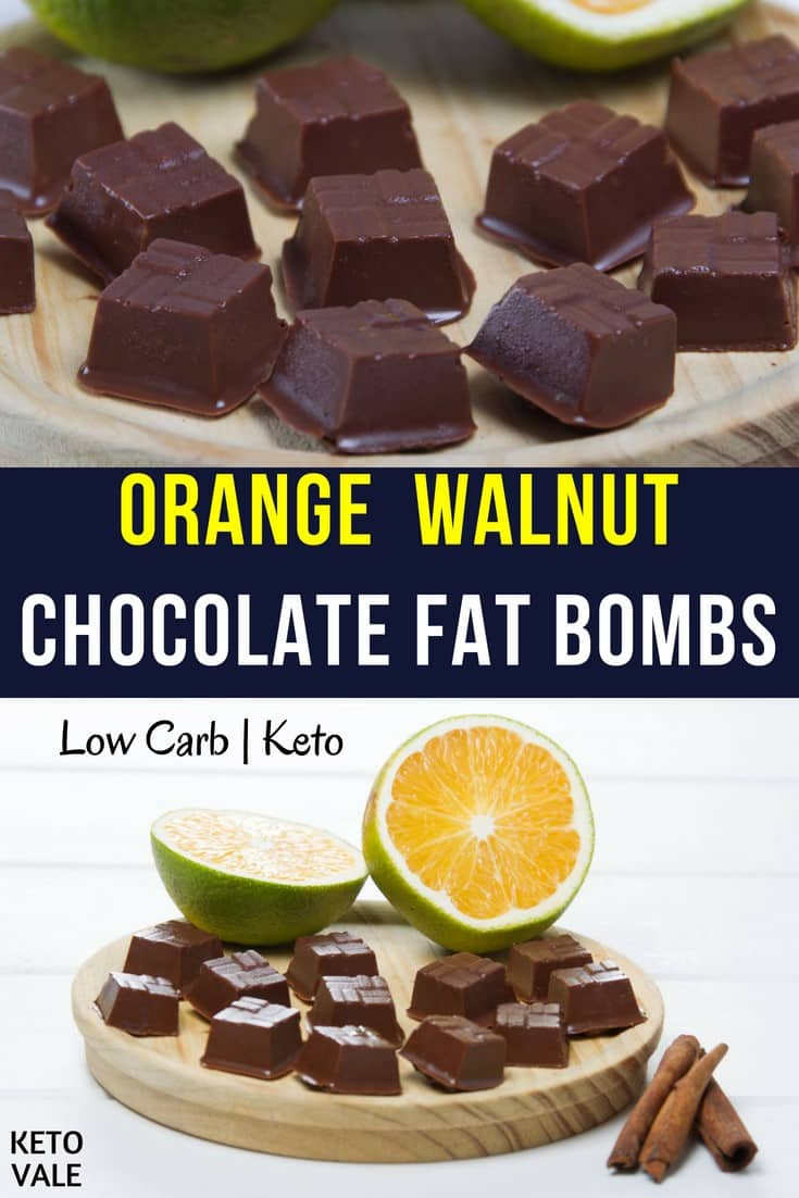 Keto orange walnut chocolate fat bombs
