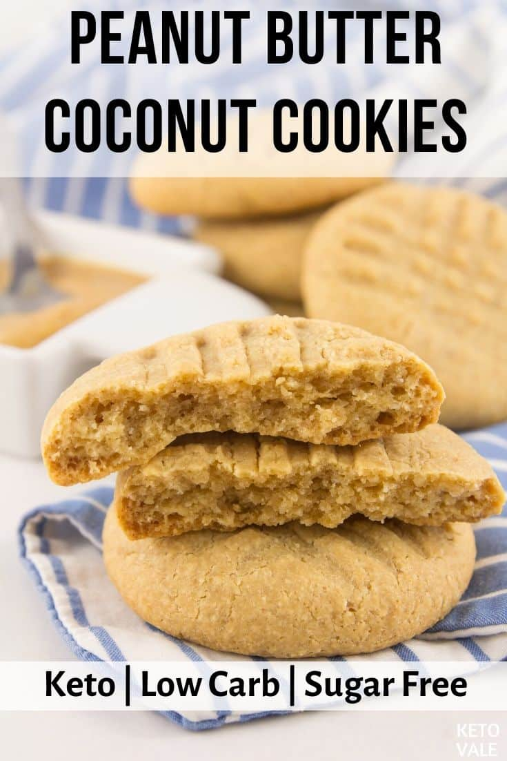 keto peanut butter coconut cookies