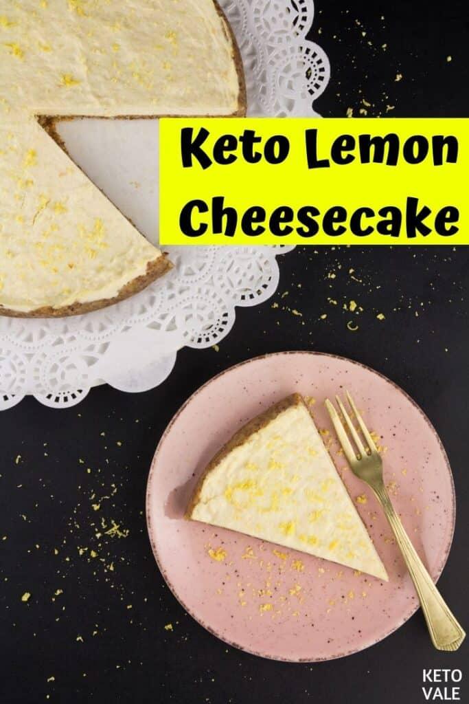 low carb lemon cheesecake