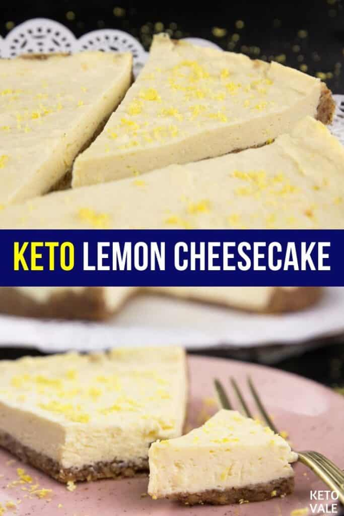 sugar free lemon cheesecake