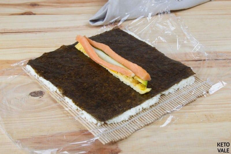 uramaki sushi rolls