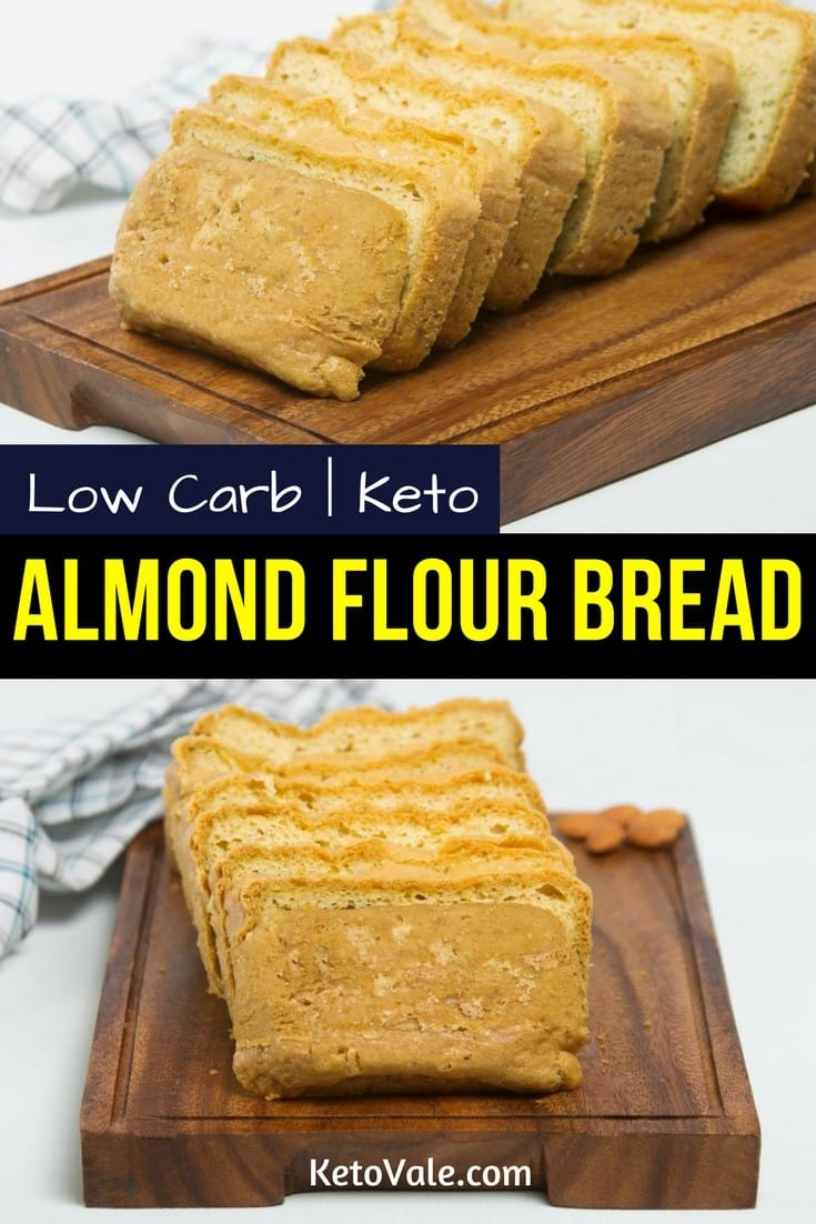 Keto Almond Flour Bread Low Carb Recipe