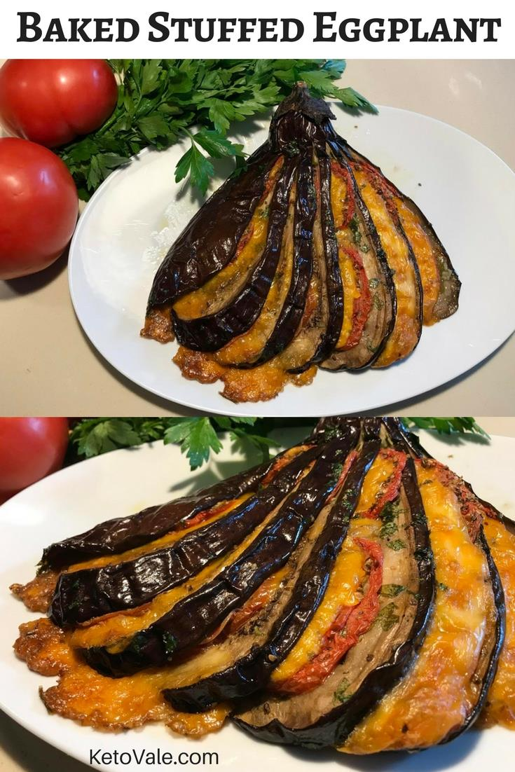Baked Stuffed Eggplant Cheese Tomato