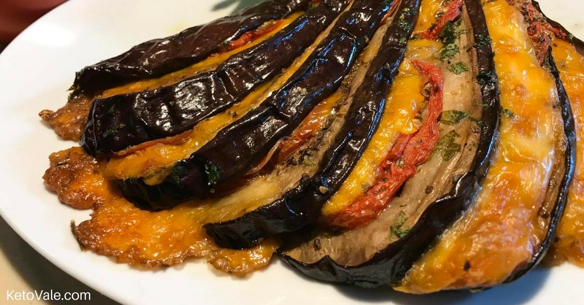 Baked stuffed eggplant with cheese and tomato recipe keto vale baked stuffed eggplant forumfinder Images