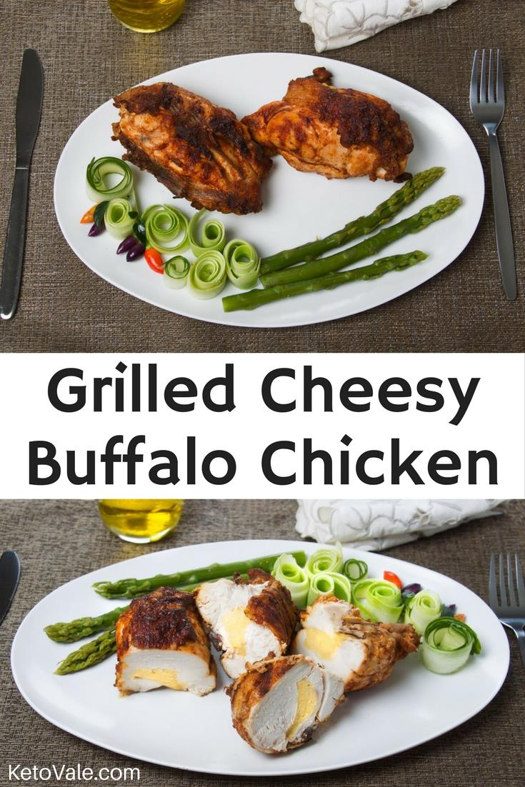 Grilled Cheesy Buffalo Chicken Recipe