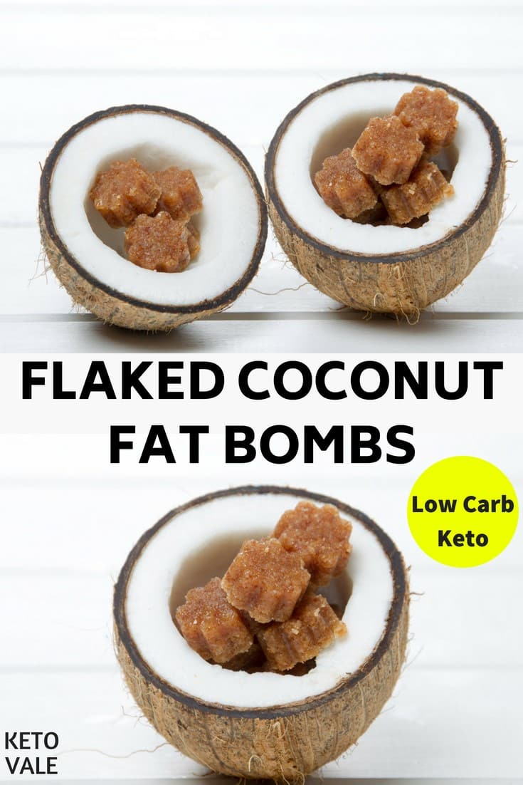 Keto Flaked Coconut Fat Bombs