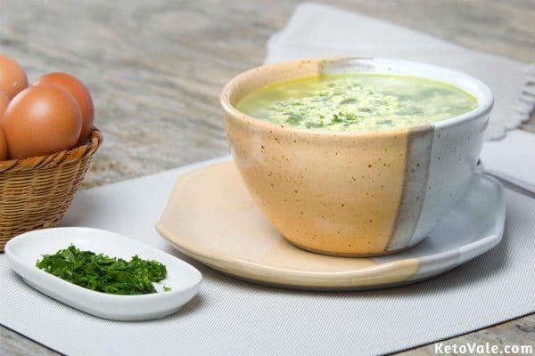 Keto Stracciatella Soup