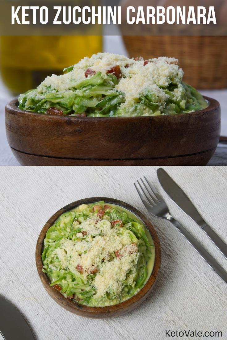 Keto Zucchini Carbonara