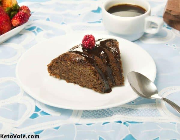 Keto Zucchini Chocolate Cake