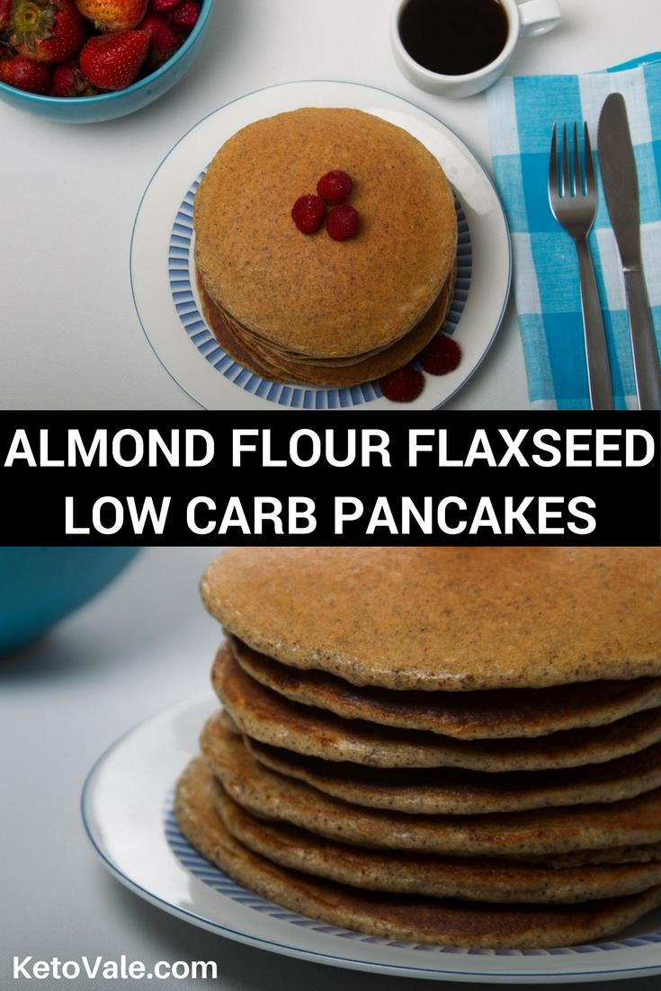 Low Carb Almond Flour Flaxseed Pancakes