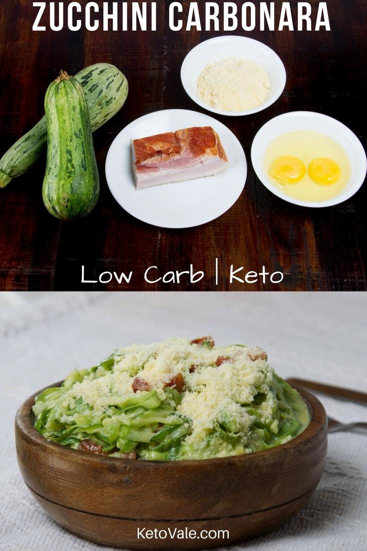 Low Carb Zucchini Carbonara