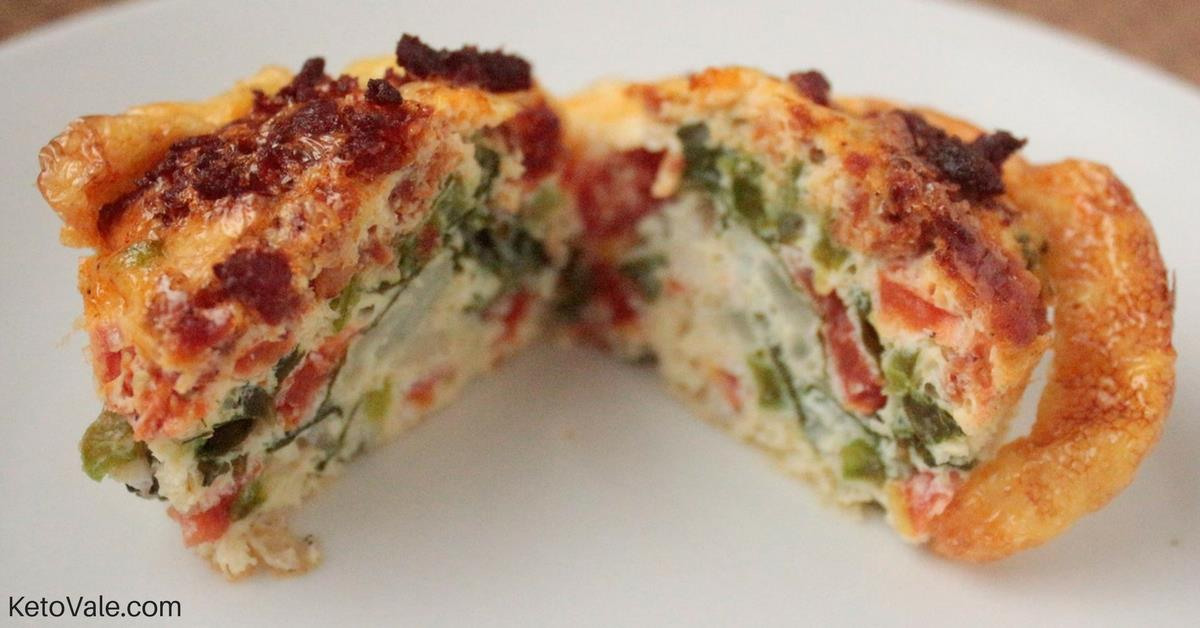 Spinach Sausage Egg Muffin Cup