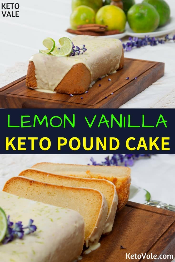 Keto Lemon Vanilla Pound Cake Low Carb Recipe
