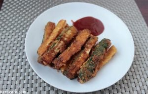 Zucchini Fries With Almond Recipe